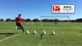 Watch: Leverkusen bottle flip challenge
