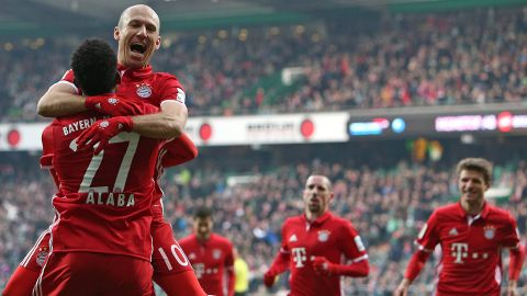 Watch: Bremen 1-2 Bayern - highlights