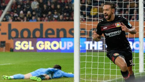 Bellarabi makes history in Leverkusen win