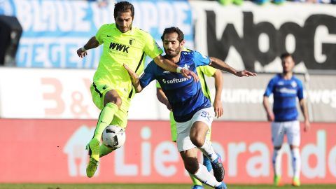 Watch: Darmstadt 1-2 Augsburg - highlights