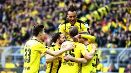 Aubameyang into the record books as BVB down Bayer