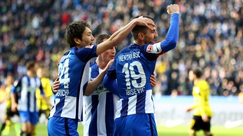 Hertha down Dortmund in Berlin