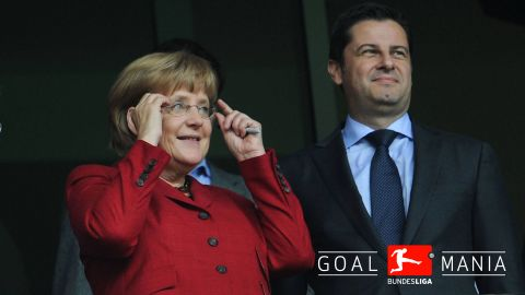 Chancellor Merkel at Cologne game
