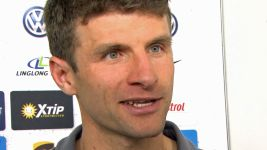 "Watch: Müller: ""Maybe we'll celebrate a bit!"""