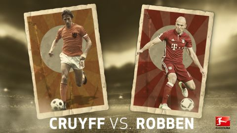 Bayern's Robben level with Dutch legend Cruyff