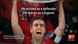 DFL pays tribute to Philipp Lahm
