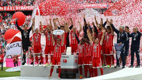 Champions Bayern celebrate title - as it happened!