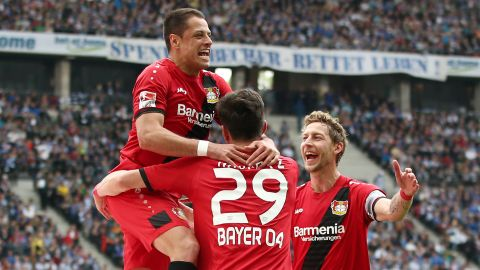 Lethal Leverkusen hit Hertha for six