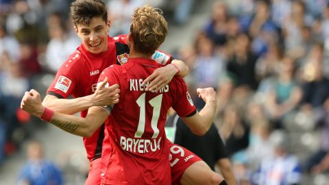 Leverkusen's Kai Havertz living the dream