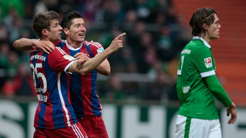 Watch: Müller & Lewandowski, the Bremen bullies