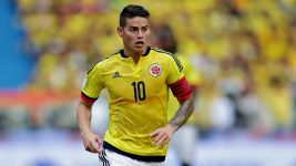 James Rodriguez returns to action for Colombia