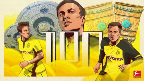 Götze hits 100-mark for Dortmund