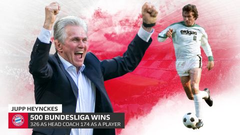 500 Bundesliga victories for Heynckes