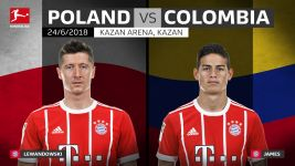 James and Lewandowski to face off at World Cup