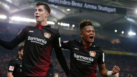 Leverkusen roar into top four