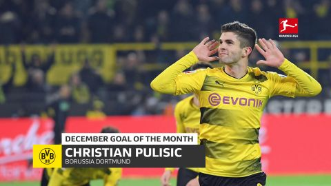 Watch: Pulisic's December Goal of the Month Winner