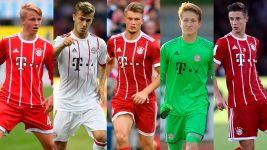 Who are Bayern's teenage quintet in Qatar?