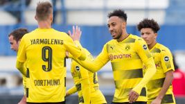 Aubameyang scores twice in Dortmund friendly win