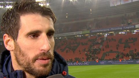 Watch: Javi Martinez dedicates goal to son
