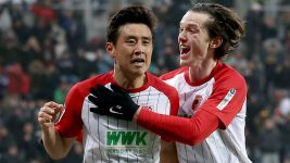 Augsburg go seventh thanks to Koo header