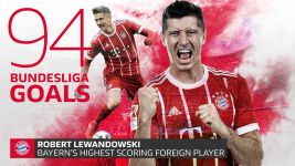 Lewandowski sets new Bayern best mark