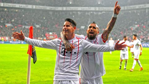 Vidal says Bayern can conquer Europe with James