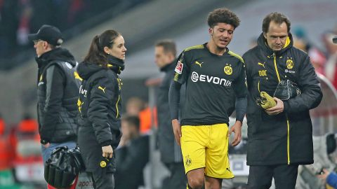 Jadon Sancho ruled out with ankle injury