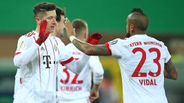 Bayern hit Paderborn for six to reach semis