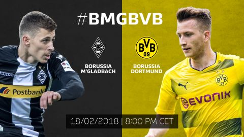 Gladbach vs. Dortmund: build-up!