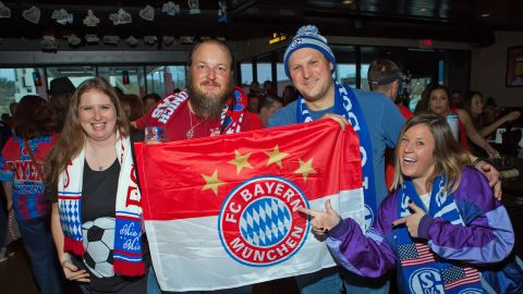 Watch: Bayern and Schalke's Houston fan-fest!