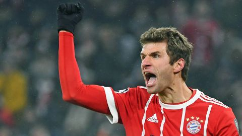 In-form Thomas Müller kicking like a mule