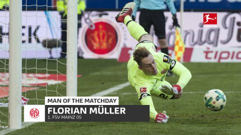 Florian Müller: MD25 Man of the Matchday