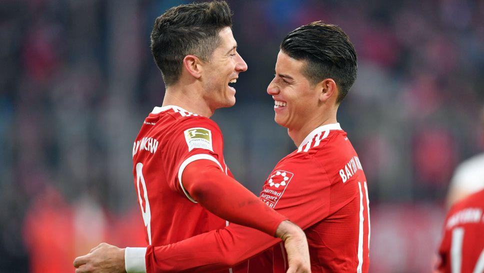 James Rodriguez Robert Lewandowski And The Cornerstones Of Bayern Munichs Successful Bundesliga Title Defence