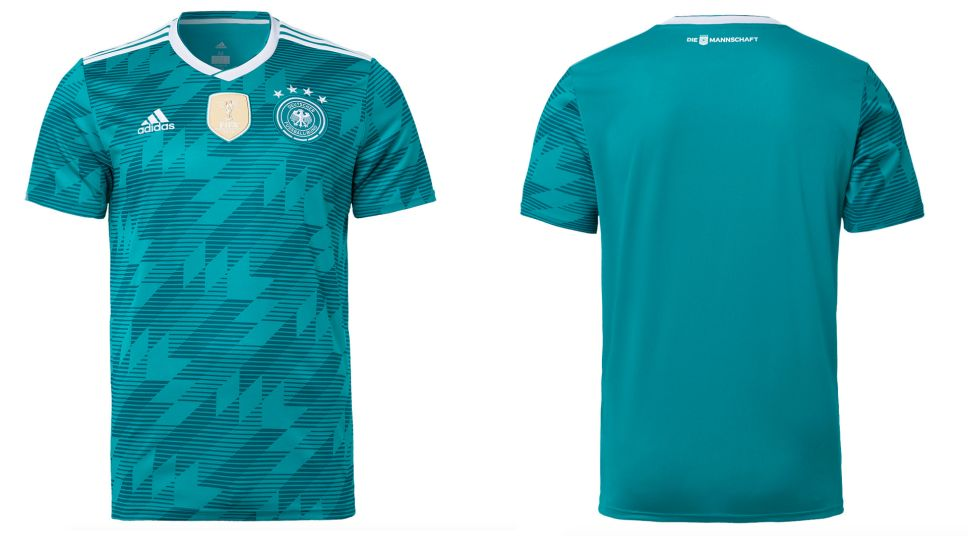 7a530327827 Defending champions Germany unveil new change kit for 2018 FIFA World Cup  title defence