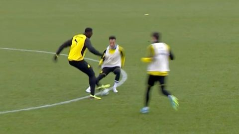 Watch: Bolt's cheeky nutmeg on Dortmund star!
