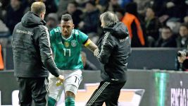 Boateng captains Germany, but comes off with knock