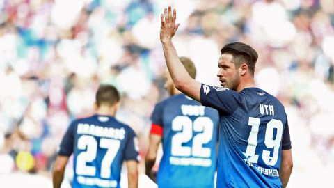 Uth stars as Hoffenheim crush Cologne