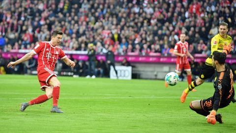 Watch: Lewandowski's hat-trick against Dortmund