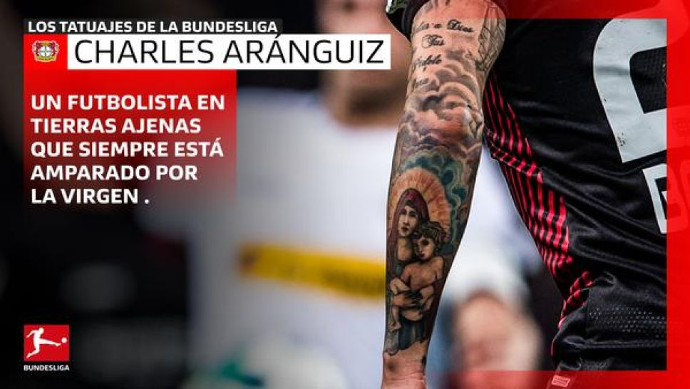 Charles  Aránguiz tattoo, the Chilean number 20 from Puente Alto, Chile
