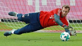 Neuer makes first saves in six months