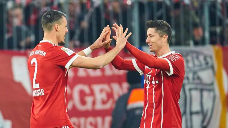 Bundesliga Bayern Munich S Sandro Wagner Robert Lewandowski Is