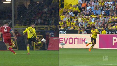 Watch: Jadon Sancho's Mario Götze-esque touch