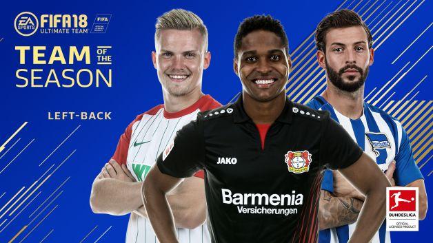Bundesliga 2017 18 bundesliga team of the season left backs - Last season bundesliga table ...