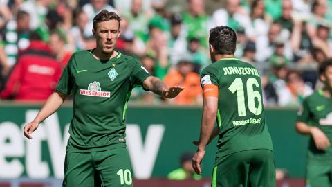 Bremen hold Leverkusen as Junuzovic bows out