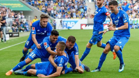 Hoffenheim grab third, Dortmund cling on