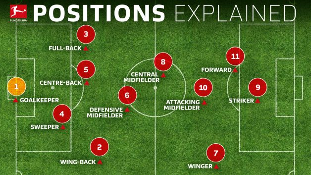 soccer team positions template - soccer positions explained names numbers and what they