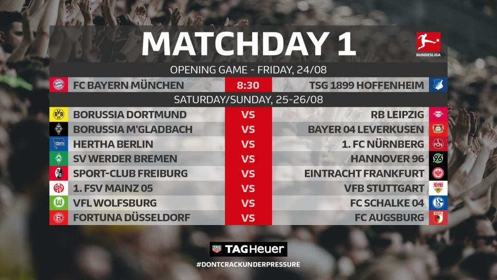 1172820_imgw968 German Bundesliga 2018/19 Fixtures Announced