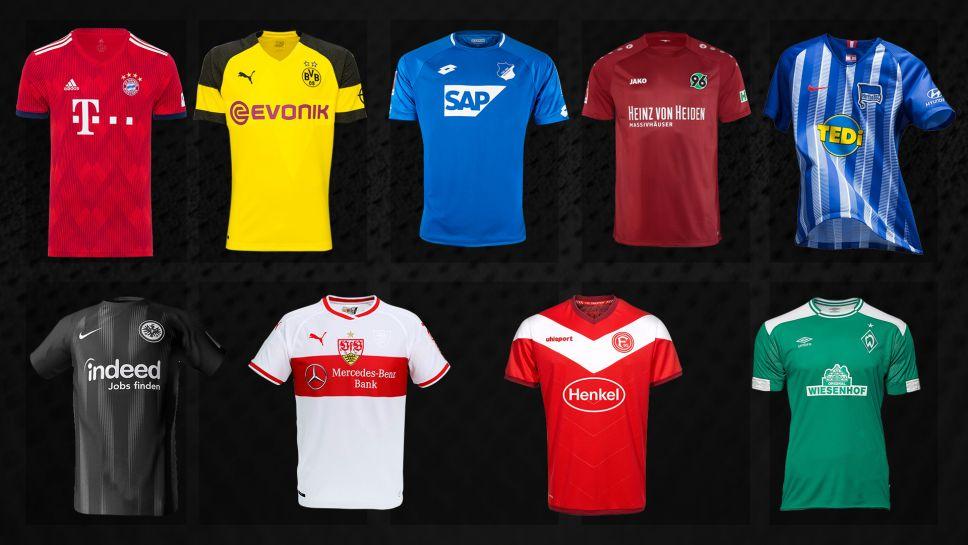 5b20ece23275a Estos son los uniformes de los equipos de la liga alemana para la temporada  2018 2019