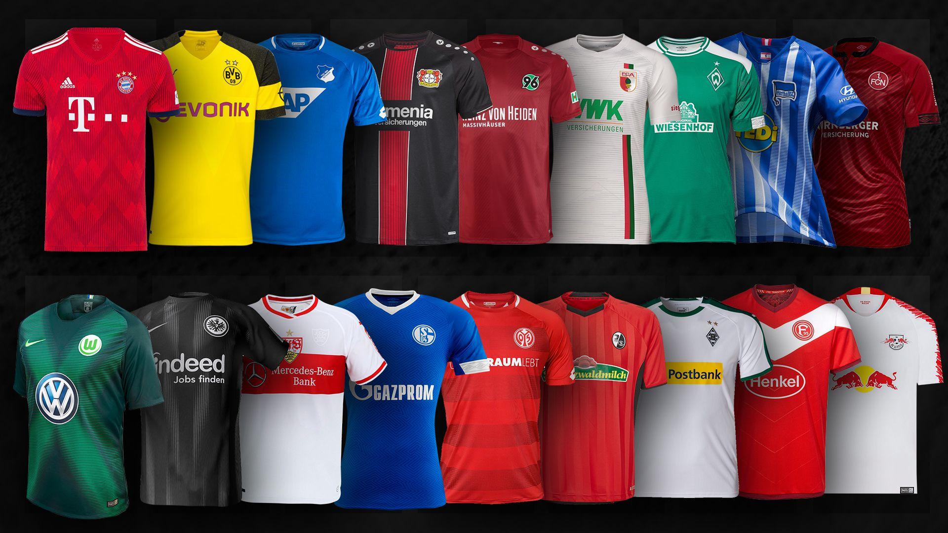 Bundesliga Neue Bundesliga Trikots Für Die Saison 201819