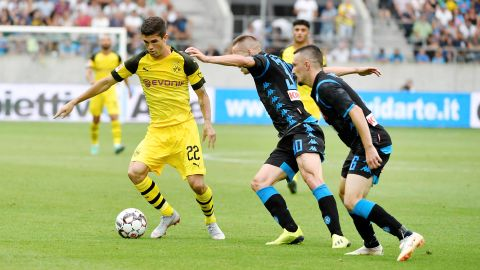 Dortmund slip to defeat against Napoli